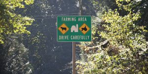 Farming Area Sign