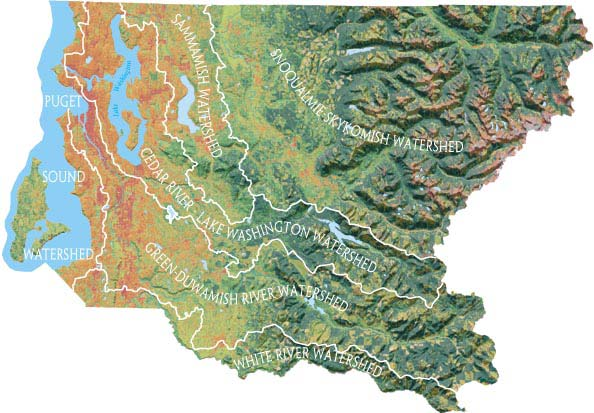 Washington State Watershed Map