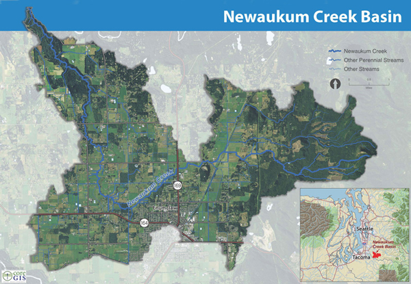 Newaukum Creek Basin Map