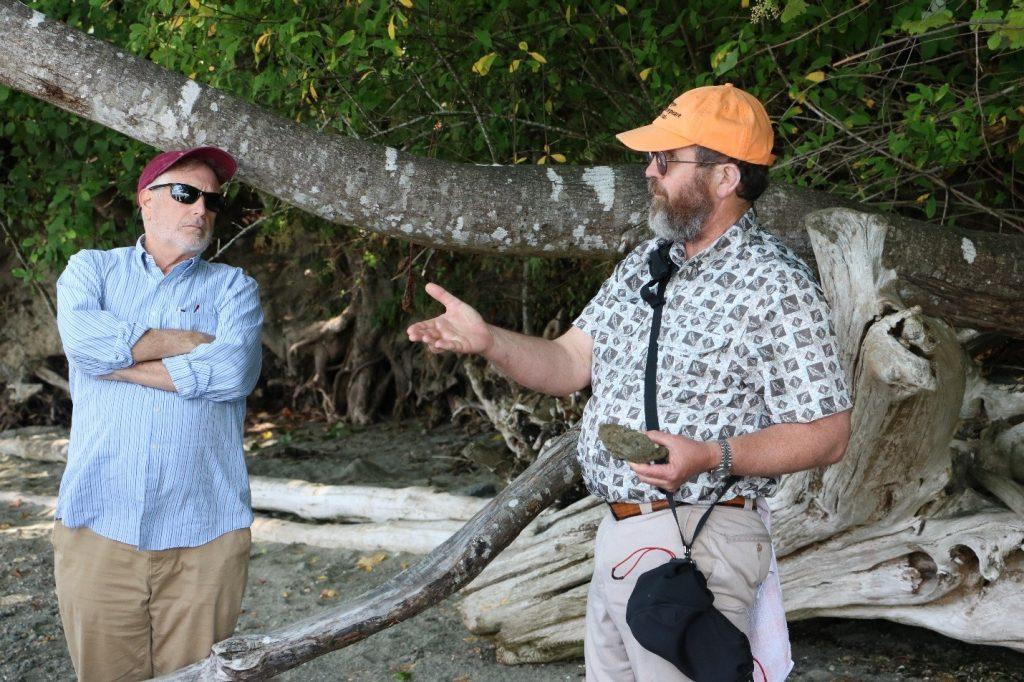 Geologist John Bethel teaching