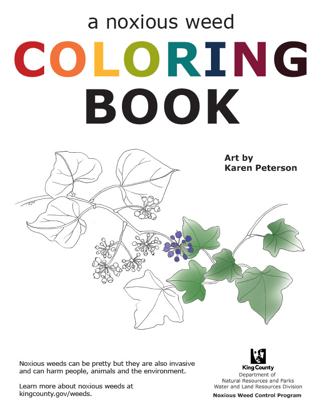 King County Noxious Weeds Coloring Book