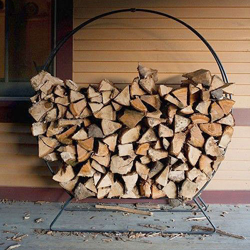 Porch Log Rack