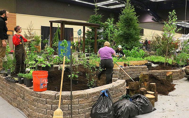 2019 Northwest Flower and Garden Festival Show Garden Build